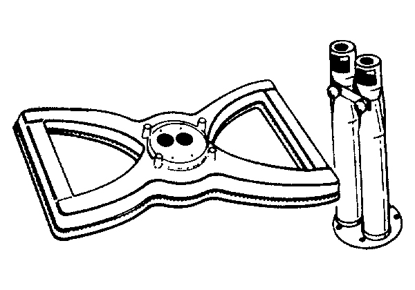 WDLB-7 Bowtie Cast Iron Burner & DV-7 Venturi