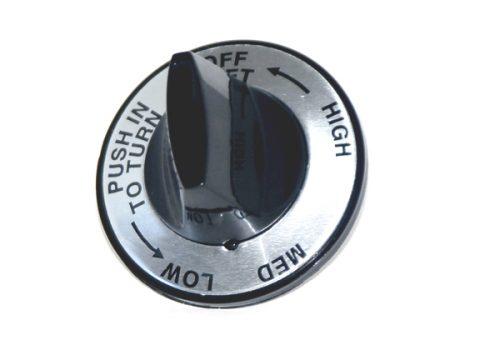 K-12LB Silver Faced Knob