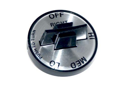 K-3B Silver Face Valve Knob