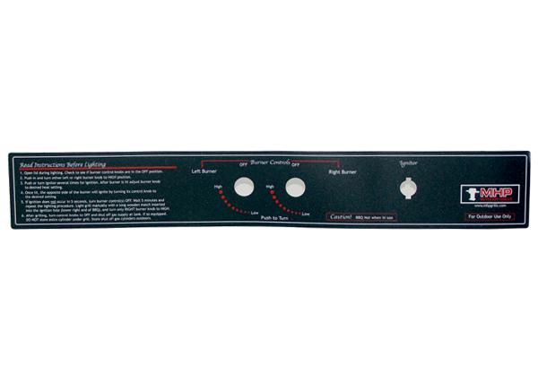 GGCPLBLE Control Panel label