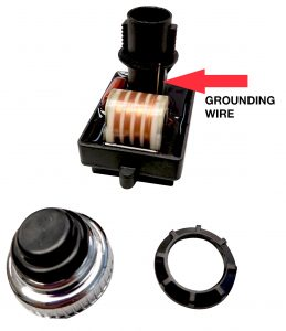 Ground wire must be in contact with the metal control panel for ignitor to work properly