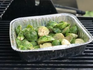 STEP 6 Grilled Balsamic Brussels Sprouts