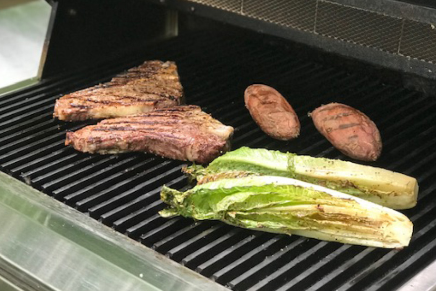 Grilled Caesar Salad made on the grill