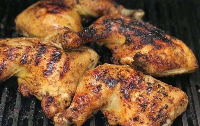 Beer Brined Spatchcock BBQ Chicken