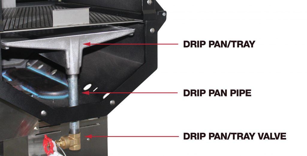 Drip Pan/Tray. Pipe & Valve